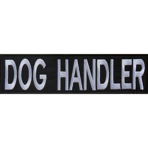 Embroidered DOG HANDLER Patch -Black-30 x 8cm