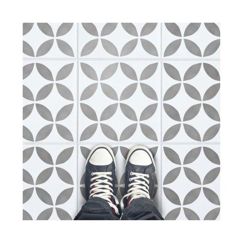 Tsunagi Tile Furniture Wall Floor Stencil for Painting