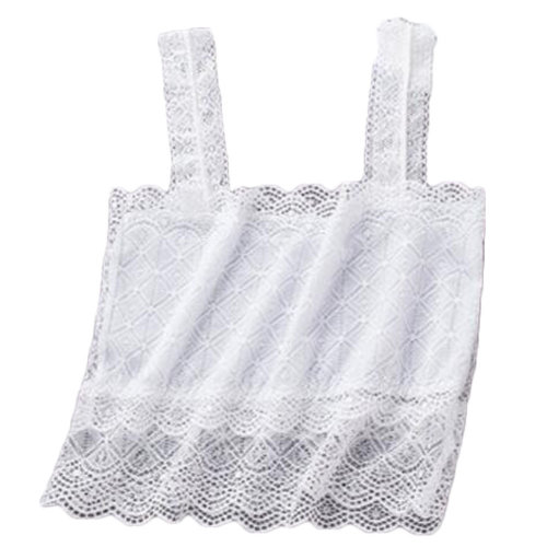 2PCS Women's Lace Camisoles Lingerie Seamless Stretchy Tube Bra Top -A9