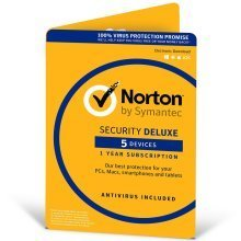 Norton Security Deluxe Software 3.0 | 1 User & 5 Devices