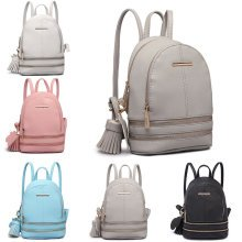 KONO Backpack Women Girls Small Shoulder Bag PU Leather