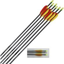 Archery Target Arrows Fibreglass - 28 Inch - 6 Pack