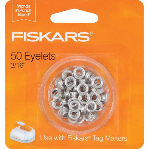 """Fiskars Tag Maker Eyelets 50/Pkg-Silver 3/16"""""""