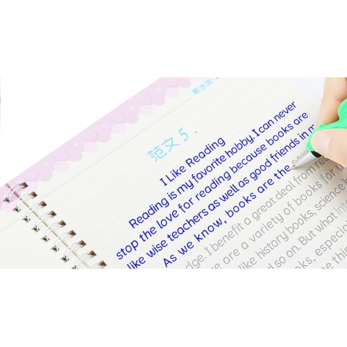 Reusable English Copybook for Learning Mandarin Character Writing Book