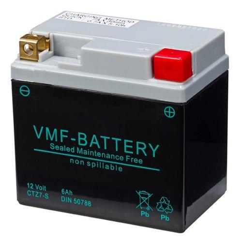 VMF Powersport AGM Battery 12V 6Ah Maintenance Free Car Vehicle FA YTZ7-S