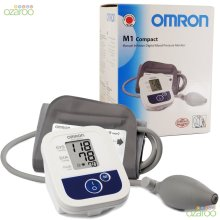 Omron M1 Compact Upper-Arm Semi-Automatic Blood Pressure BPM Monitor + Batteries