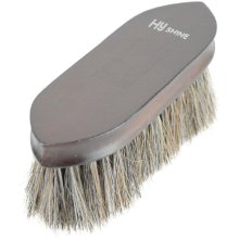HySHINE Deluxe Horse Hair Wooden Dandy Brush: Dark Brown
