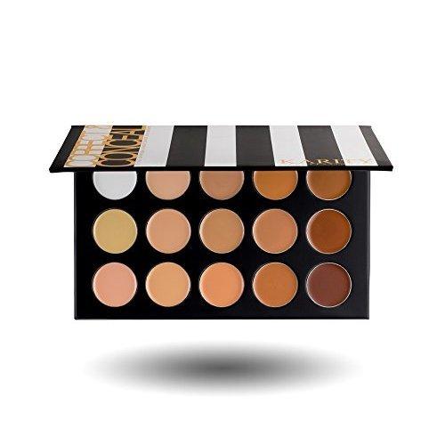 15 Full Coverage Highly Pigmented Cream Based Professional Concealer Palette Face Makeup Kit Set Pro Palette High-end Formula