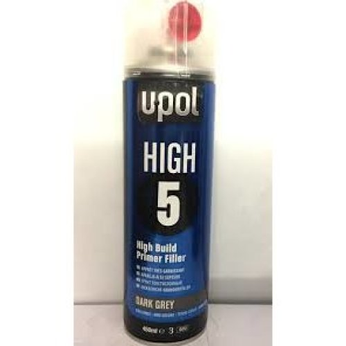 Upol HIGH 5 Dark Grey Primer Filler Aerosol 450ml