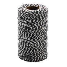 Pbx2471184 - Playbox - Cotton Twine, Black & White, 100 Mtrs X 2mm