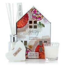 Artistry Collection House Scented Votive Heart Candle & Diffuser Gift Sets Eastern Spice