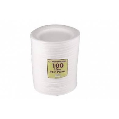 Pack Of 100 25Cm Poly Plates