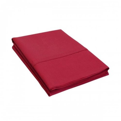 Luxor Treasures P300SDPC SLBG 300 Standard Pillow Cases, Percale Solid Patterned - Burgundy