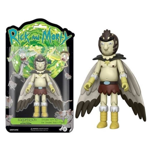 Rick and Morty Bird Person 5 inch Figure + Build Snowball Part