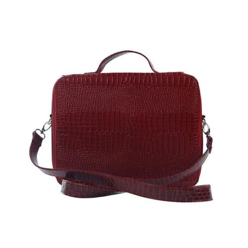 Picnic Gift 7122-RD Cosmopolitan-Insulated Adjustable Make Up Travel Organizer, Red Croc
