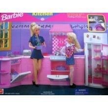 Barbie Kitchen Playset - Folding Pretty House (1996 Arcotoys, Mattel)