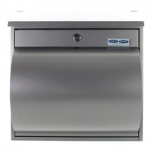 Silver Lockable Mailbox Letterbox Newspaper Holder Rottner Wallersee