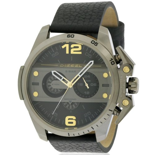 Diesel Ironside Leather Chronograph Mens Watch DZ4386