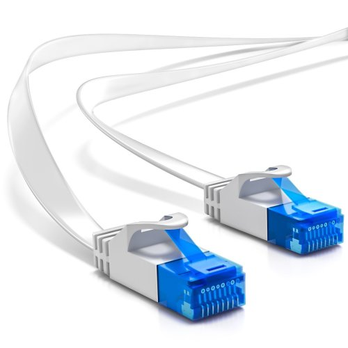 Copper Flat Cat6 Network Ethernet Patch Cable Modem Router RJ45 for LAN Network