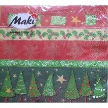4 x Christmas Paper Napkins - Christmas Patterns - Ideal for Decoupage