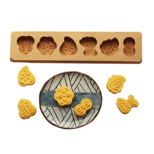 Dessert Baking Molds/Wooden Carving Baking Molds, Fruit(29*7.5*2.5cm)