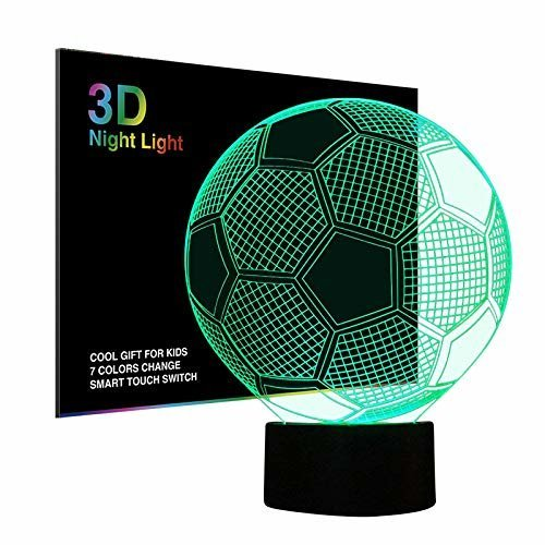 3d Changing Charger FlatAbs BaseUsb Night Light Lamp 7 Colour Football Illusion Tiscen Plastic Optical With Led Acrylic q54ARj3L
