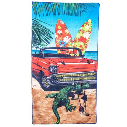 Large Soft Microfibre Beach Towel - GECKO Design