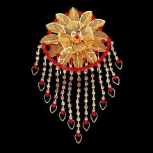 Vintage Gold Crystal Hair Combs Flower Wedding Combs