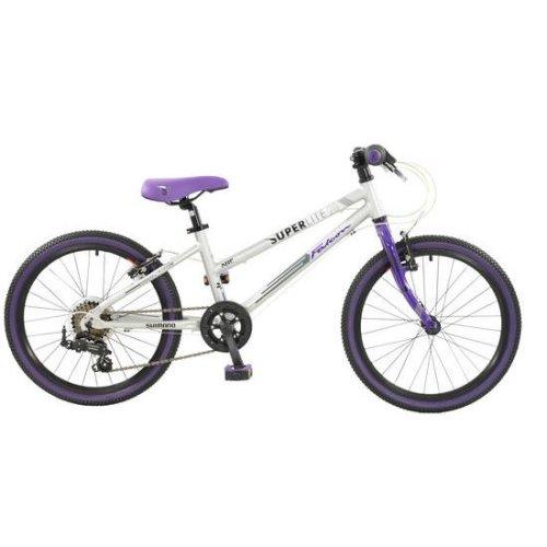 "Falcon Superlite Girls 20"" Wheel 7 Speed Lightweight Alloy Bike Bicycle Purple & Silver"