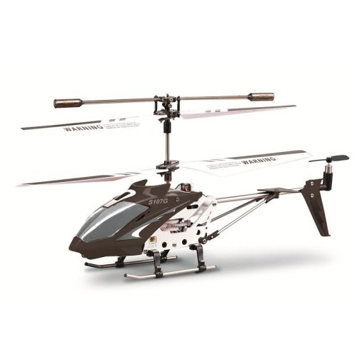Syma S107G Infrared Controlled Helicopter with Gyroscopic Stability Control - Carbon Black
