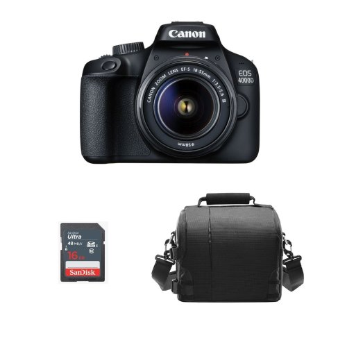 CANON EOS 4000D KIT EF-S 18-55MM F3.5-5.6 III +  Bag + 16gb SD card