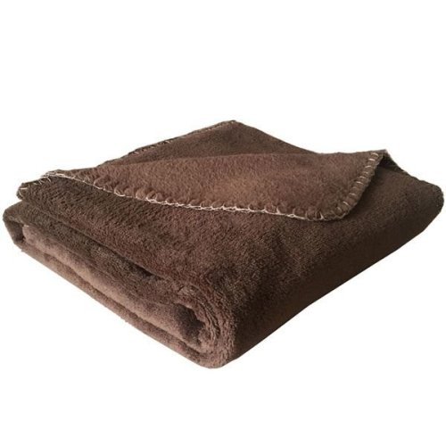Coral Fleece Cat Blanket Brown - 100 x 74cm