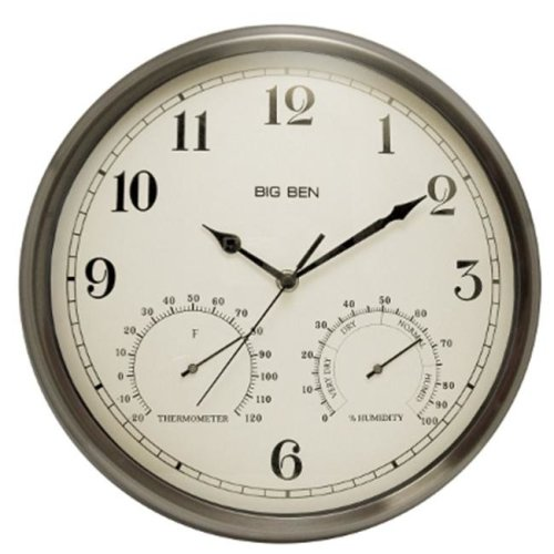 Westclox 49832 12.5 Outdoor Wall Clock