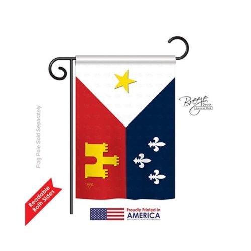 Breeze Decor 68008 Mardi Gras Acadiana 2-Sided Impression Garden Flag - 13 x 18.5 in.