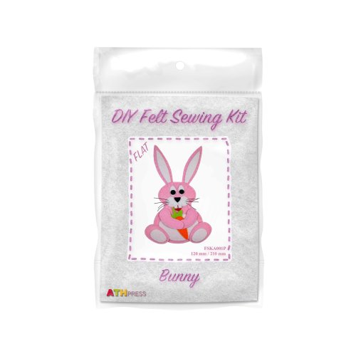 ATH Press - DIY Felt Sewing Kit - Bunny - Pink-Flat