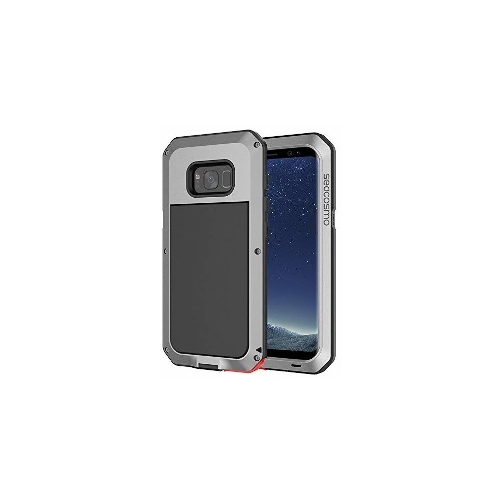 reputable site 67295 63645 Seacosmo Galaxy S8 Case, Military Rugged Heavy Duty Aluminum Shockproof  Dual Layer Bumper Case for Samsung Galaxy S8, Silver
