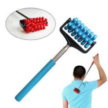 1 x Extendable Massager, Extends From 20 To 44cm! Colour Selected Randomly! - -  massager extendable telescopic relief extending handy pain portable