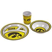 NCAA Iowa Hawkeyes Kids 3-Piece Dish Set
