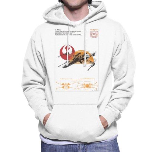 Star Wars X Wing Starfighter Orthographic Men's Hooded Sweatshirt