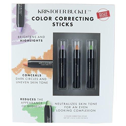 Kristofer Buckle Set 3 Color Correcting Conceals Sticks Make Up Concealer 092 Oz Each