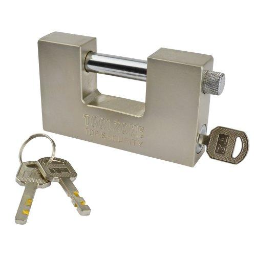 Padlock Steel Security Shutter Lock Container Door 100mm Rotating Shackle TE722