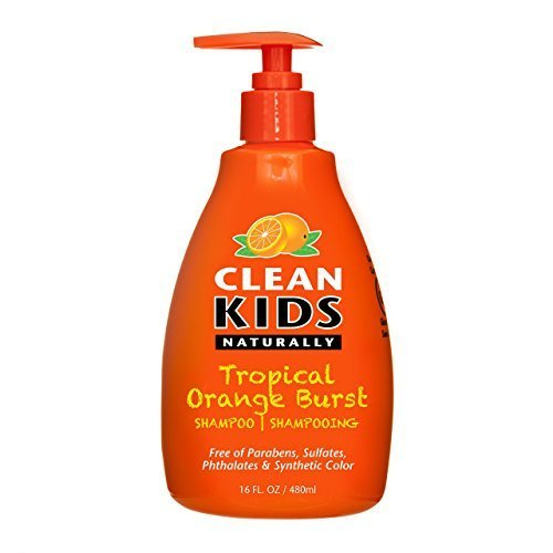 Clean Kids Naturally, Shampoo, Tropical Orange Burst, 16oz.