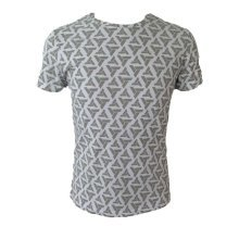 Assassins Creed Adult Male Abstergo Logo All-Over Print T-Shirt S Size - Grey