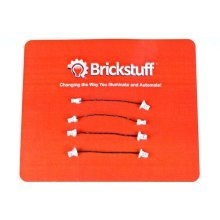"Brickstuff 1.5"" Extension Cables for the Brickstuff LEGO Lighting System (4-Pack) - GROW01.5"