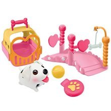 Chubby Puppies Weave Pole Mini Playset Plus Carrier
