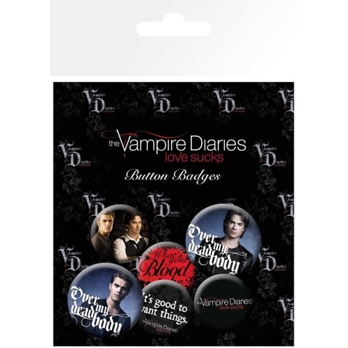 The Vampire Diaries Stefan & Damon Badge Pack