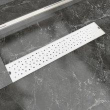vidaXL Linear Shower Drain Bubble 630x140 mm Stainless Steel