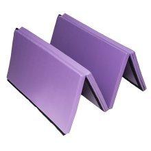 Homcom Folding Exercise Mat Thick Pad Yoga Workout 245L – Purple