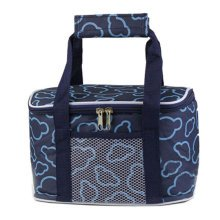 Outdoor Picnic Bag  Large Soft Cooler Insulated Picnic Lunch  Bag for Grocery, Camping, Car, #J