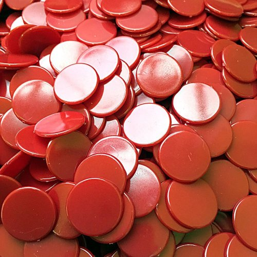 Plastic Counters - 22mm diameter x 100 Various Colours (Red)